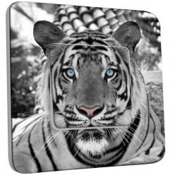 Interrupteur Décoré Poussoir - Tigre Black&White