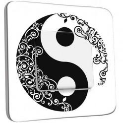 Interrupteur Décoré Poussoir -Ying et Yang