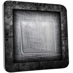 Interrupteur Décoré Simple Va et Vient - Abstrait Gris