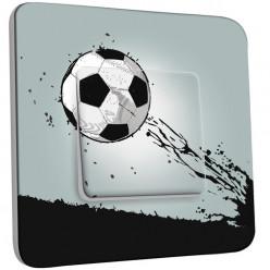 Interrupteur Décoré Simple Va et Vient - Ballon de foot Design 1
