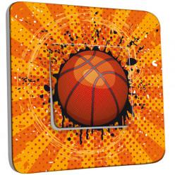 Interrupteur Décoré Simple Va et Vient - Basket-Ball 1