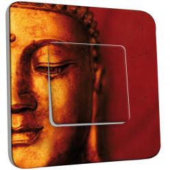 Interrupteur Décoré Simple Va et Vient - Bouddha Zoom Or 5