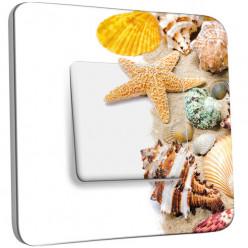 Interrupteur Décoré Simple Va et Vient - Coquillages Etoile de Mer 12
