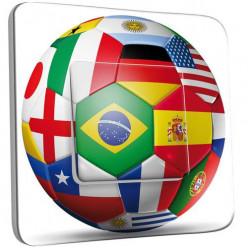 Interrupteur Décoré Simple Va et Vient - Coupe du monde
