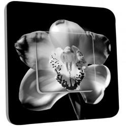 Interrupteur Décoré Simple Va et Vient - Fleurs Black&White