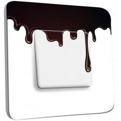 Interrupteur Décoré Simple Va et Vient - Imitation Chocolat