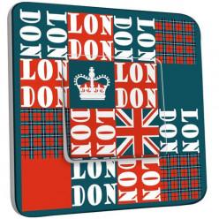 Interrupteur Décoré Simple Va et Vient - London Abstrait 1