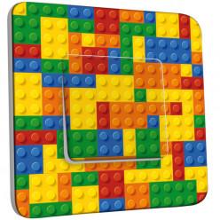 Interrupteur Décoré Simple Va et Vient - Motif Lego Multicoloré 1