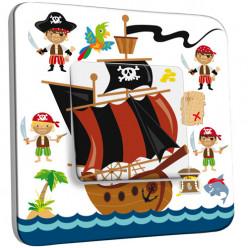 Interrupteur Décoré Simple Va et Vient - Pirates