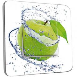 Interrupteur Décoré Simple Va et Vient - Pomme Verte