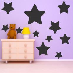 Kit 18 stickers étoiles