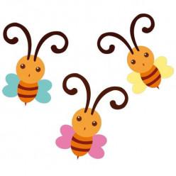 Kit 3 Stickers Papillon
