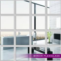 Kit Miroir Plexiglass Acrylique Carrés