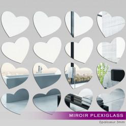 Kit Miroir Plexiglass Acrylique Coeurs
