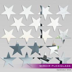 Kit Miroir Plexiglass Acrylique Étoiles