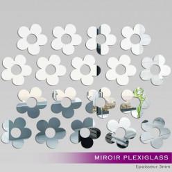 Kit Miroir Plexiglass Acrylique Fleurs