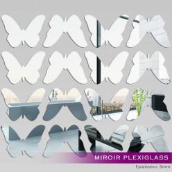 Kit Miroir Plexiglass Acrylique Papillons