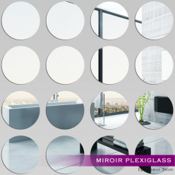 Kit Miroir Plexiglass Acrylique Ronds