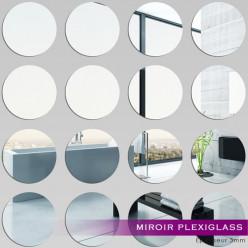 Kit Miroir Plexiglass Acrylique Ronds
