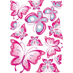 Kit stickers 13 papillons