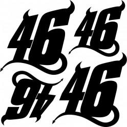 Kit stickers 46 diablo