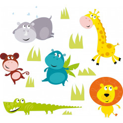 kit stickers 5 animaux