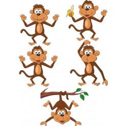 kit stickers 5 singes