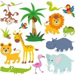 Kit stickers animaux de la jungle