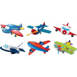 Kit stickers avions