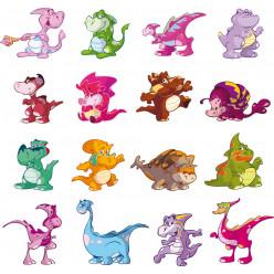 kit Stickers bébé dinosaure