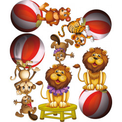 Kit stickers cirque