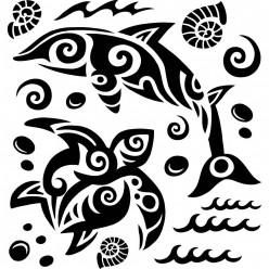Kit Stickers dauphin tortue marine