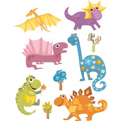 Kit stickers dinosaures