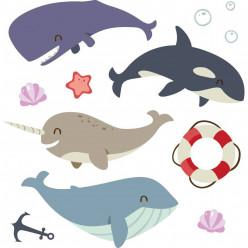 Kit Stickers marin