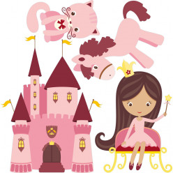 Kit stickers princesse