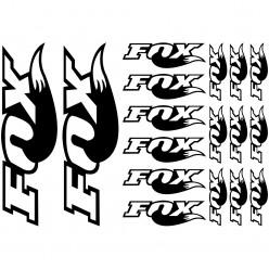 Kit stickers vélo fox bikes