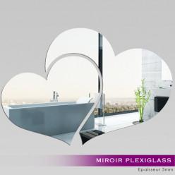 Miroir Plexiglass Acrylique - Deux Coeurs