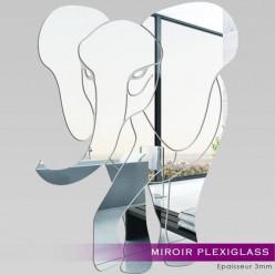 Miroir Plexiglass Acrylique - Eléphant