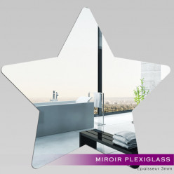 Miroir Plexiglass Acrylique - Etoile 3