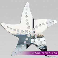 Miroir Plexiglass Acrylique -Etoile de mer 2