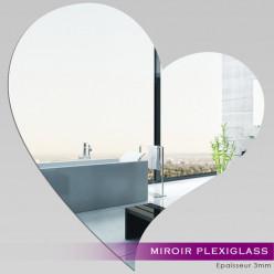Miroir Plexiglass Acrylique - Grand Coeur