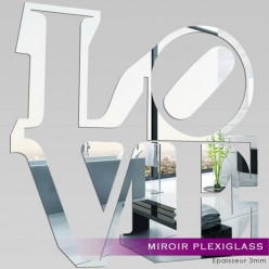 Miroir Plexiglass Acrylique - Love