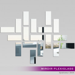Miroir Plexiglass Acrylique - Rectanges