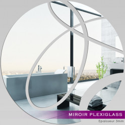 Miroir Plexiglass Acrylique - Rond abstrait