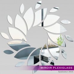 Miroir Plexiglass Acrylique - Spirale pétale