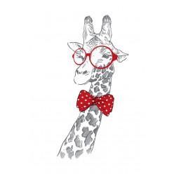 Poster - Affiche girafe hipster