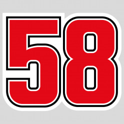 Stickers 58 marco simoncelli