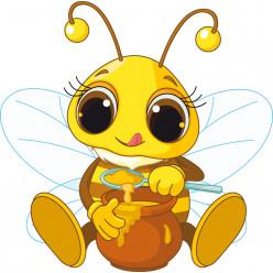 Stickers abeille miel