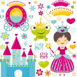 Stickers accessoires princesse