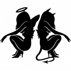 Stickers angel et devil
